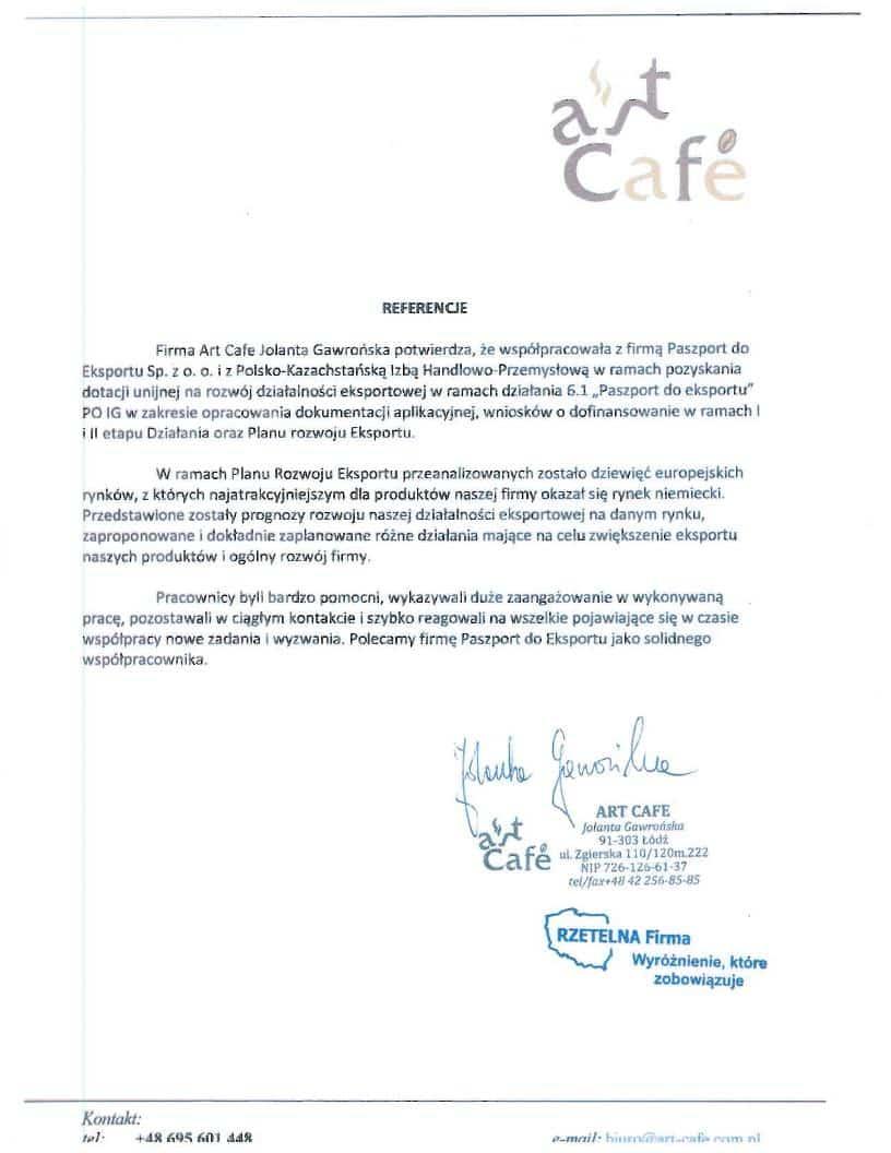 Art Cafe 1 Referencje